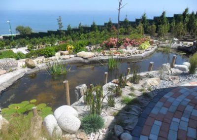 estanque jardin cantabria
